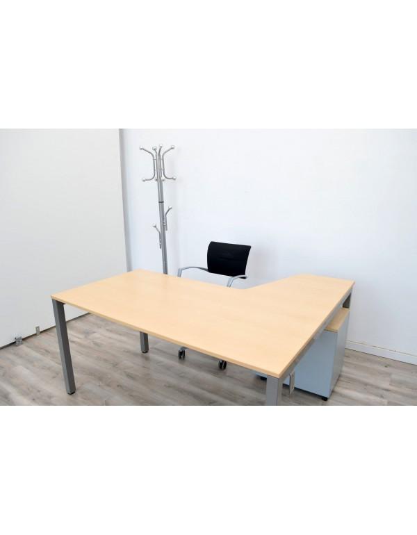 Mesa Oficina 160 cm + Cajonera de ruedas