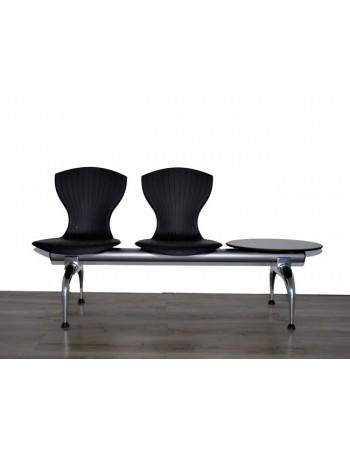 Bancada sala de espera 2 asientos + mesa